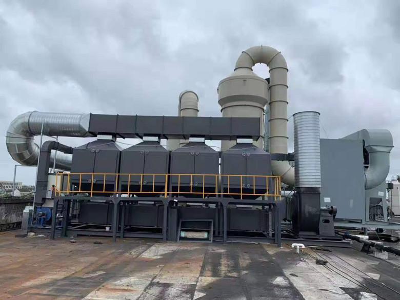 四川新都钢结构企业喷漆房废气治理工程